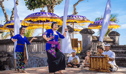 Balinese Dance or Music Lesson at The Oberoi Beach Resort Bali