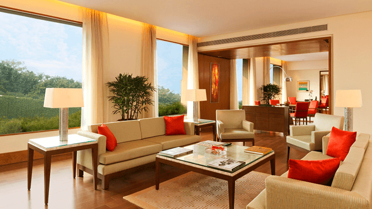Luxury Suite Living Room at The Oberoi Gurgaon