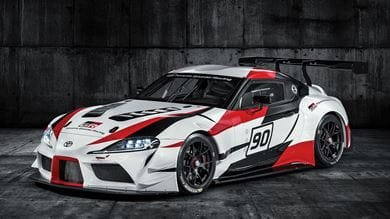 The Toyota GR Supra Racing Concept shares design cues with the FT-1 concept car