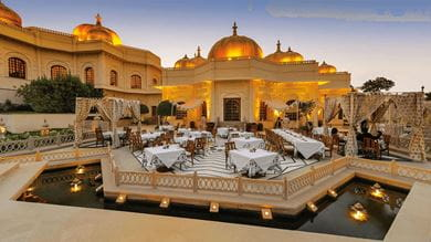 Chandni, the al fresco dining area at the resort