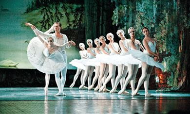 The Royal Russian Ballet performs Swan Lake at the Jinsha theatre in Chengdu, China