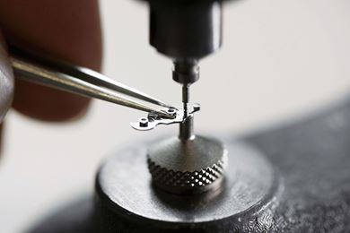 A watch being made at the Carl F Bucherer workshop