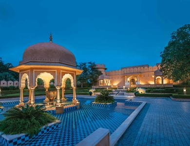 The Oberoi Amarvilas, Agra with the Taj Mahal in the background