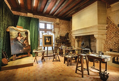 The workshop of Leonardo da Vinci at the Château