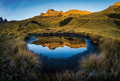 DREAMLIKE REFLECTION AT THE MOUNT GILUWE VOLCANO Papua New Guinea