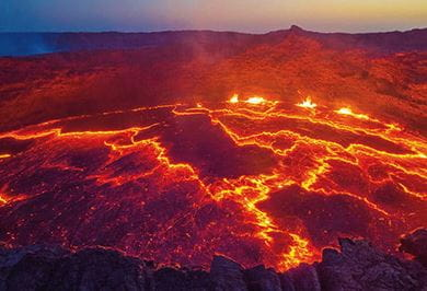 THE BOILING LAVA LAKE ERTA ALE Ethiopia