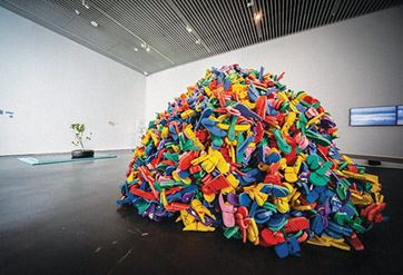 Art installation at Dubai Arts Centre