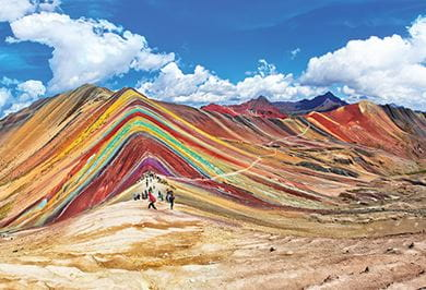 View of the Rainbow Mountain
