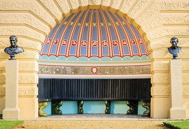 The dome-like structural entrance to the Osborne House
