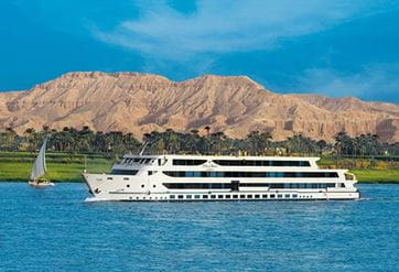 The Oberoi Zahra, Luxury Nile Cruiser, Egypt; Luxury Suite with private decks and an outdoor Jacuzzi
