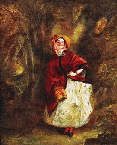 Dolly Varden, from the novel Barnaby Rudge. From the painting by W.P. Frith