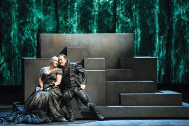 A performance of Twilight of the Gods (Götterdämmerung) by Richard Wagner at the Berlin State Opera. It is one of the four operas that together form The Ring of Nibelung