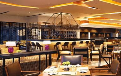 Threesixty Degrees, the main dining restaurant at The Oberoi, New Delhi