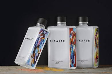 Ginarte bottles are a blank canvas of the painter. These bottles boast an artistic expression of Artist Lou Thissen