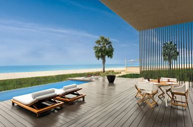 View of the Two Bedroom Villa of The Oberoi Beach Resort, Al Zorah