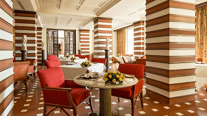 Esphahan Mughal Cuisine Restaurant at 5 Star Luxury Resort The Oberoi Amarvilas Agra