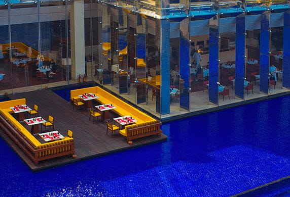 Dine on the Deck Experience at 5 Star Hotel The Oberoi Gurgaon