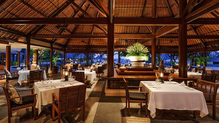 Lumbung Restaurant at The Oberoi Beach Resort Lombok