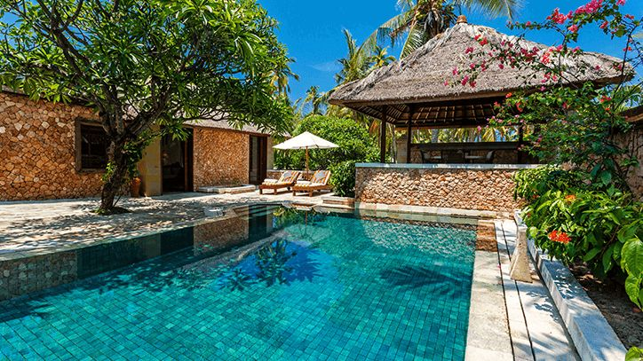 The Oberoi Lombok  Luxury Villa Garden view with Pool