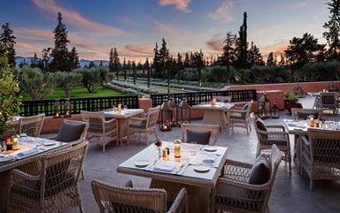 Tamimt AL Fresco Fine Dining Restaurant in Marrakech at The Oberoi Marrakech