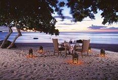 Candlelit Dinner on the Beach Experience at The Oberoi Beach Resort Mauritius
