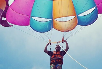Parasailing Experience at The Oberoi Beach Resort Mauritius
