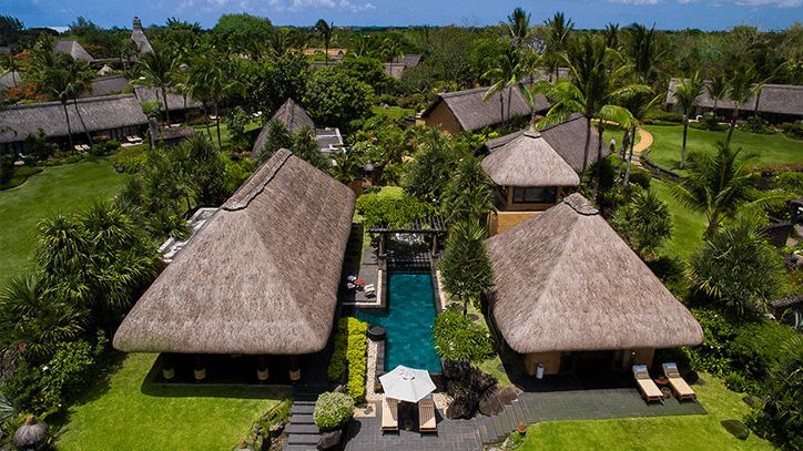 Three Bedroom Royal Villa with Private Pool in The Oberoi Beach Resort Mauritius