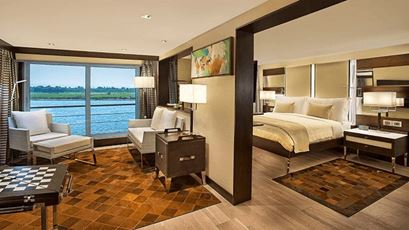 Luxury Suites with Terrace at The Oberoi Philae Luxury Nile Cruiser