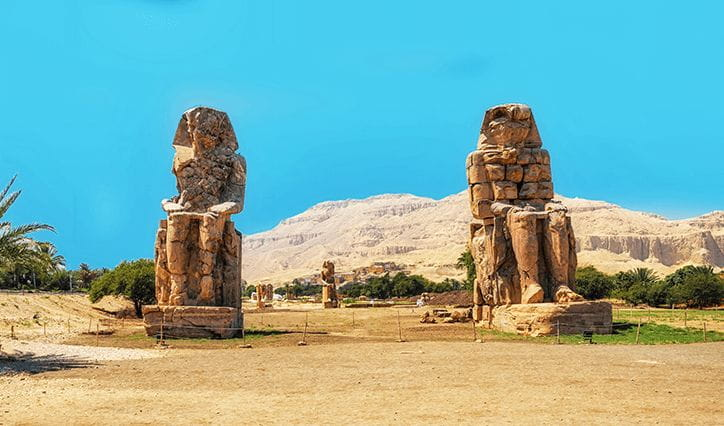 Philae Nile The Colossi of Memnon, Philae