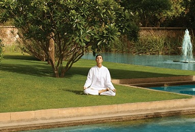 Private Yoga Session at The 5 Star Hotel in Jaipur, The Oberoi Rajvilas