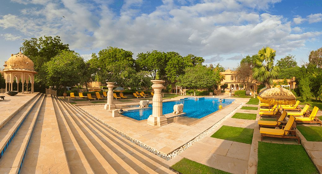 Rajvilas Swimming Pool at The Oberoi Rajvilas Jaipur