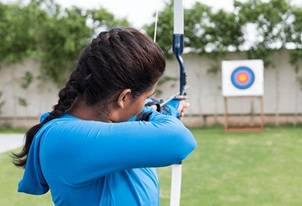 Archery at The Oberoi Sukhvilas Spa Resort Chandigarh