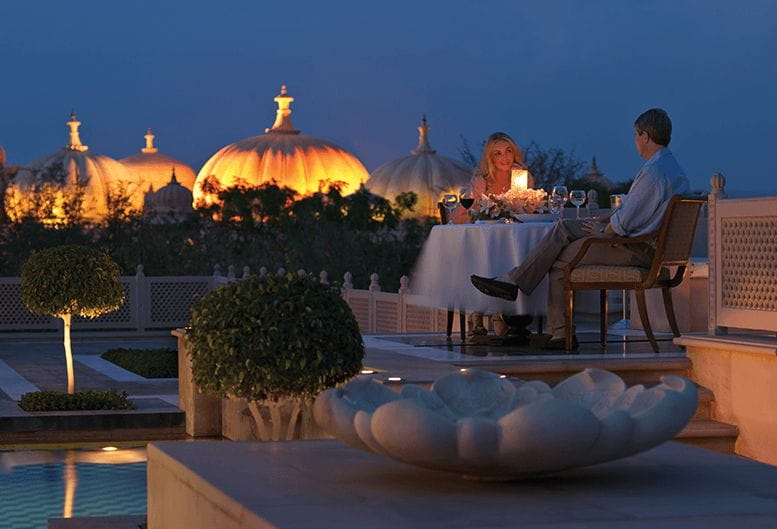 Dinner at the Lakeside Pavilion at The Oberoi Udaivilas Udaipur