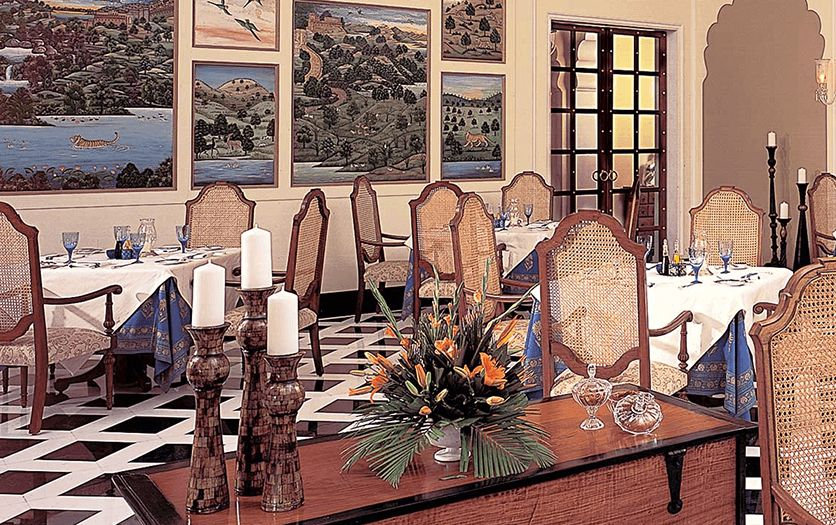 The Dining Room at The Oberoi Vanyavilas Ranthambhore