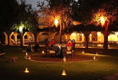 Dinner at Mango Orchard Experience at The Oberoi Vanyavilas Ranthambhore