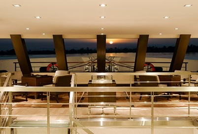 The Club Lounge at The Oberoi Zahra Luxury Nile Cruiser
