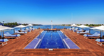 Swimming Pool at The Oberoi Zahra Luxury Nile Cruiser