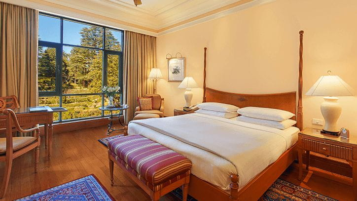 Deluxe Garden View Rooms in 5 Star Hotel The Oberoi Wildflower Hall Shimla