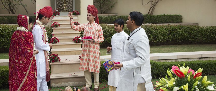 Hindu Renewal of Vows Ceremony for couples at the Oberoi, Amarvilas