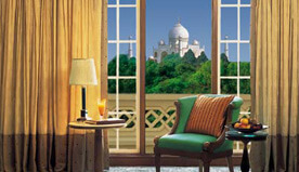 The private View to the Tajmahal from The Oberoi Amarvilas, Agra