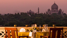 View the Tajmahal from Private Balcony of the Room The Oberoi Amarvilas, Agra