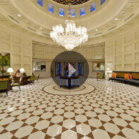 360° View of The Lobby At The Oberoi Amarvilas, Agra