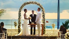 Wedding Ceremony in Tropical Gardens of The Oberoi, Bali