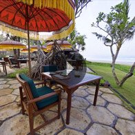 Take a 360° View of The Frangipani Café at The Oberoi, Bali