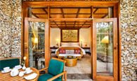 Luxury Villa With High Thatched Roof, King Size Bedroom, Outdoor Dining Pavilion & a Coutyard at The Oberoi, Bali