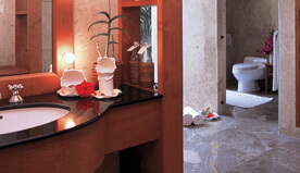 Magnificent Bathroom With Shower Cubicle & Separate Shower Room for Guests Near Living Area - Royal Villa - The Oberoi, Bali