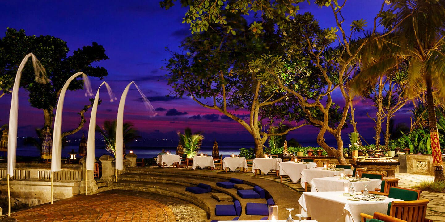 The Amphitheatre for an Al Fresco Dining, Enjoying Balinese Dance & Music at The Oberoi, Bali