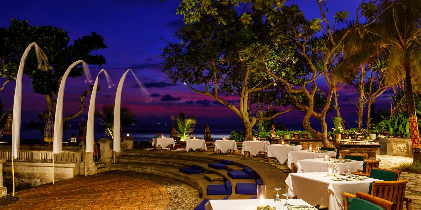 Kura Kura Restaurant, Thatched, Open-Air, Fine Dining Space - The Oberoi, Bali