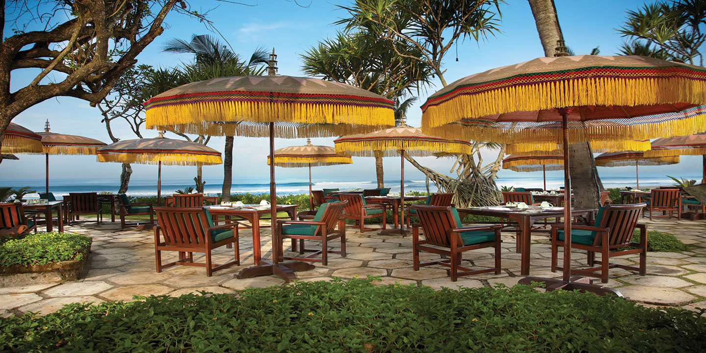 Frangipani Cafe, an Al Fresco Dining Restaurant Overlooking Seminyak Beach at The Oberoi, Bali