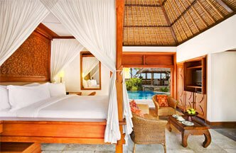 Royal Villa With Master Bedroom, Private Pool, Living Room, Kitchen & Open Air Dining at The Oberoi, Bali